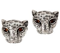 JAI Sterling Silver Leopard Stud Earrings
