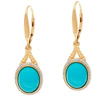 Sleeping Beauty Turquoise 14K Gold Earrings