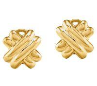 X Clip-on Stud Earrings, 14K Gold  QVC.com
