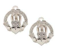 Sterling Silver Clip-on Claddagh Earrings - J269976  QVC.com