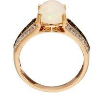 Ethiopian Opal & Alexandrite Ring 14k Gold 0.35 Cttw