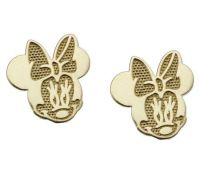 Disney Minnie Mouse Stud Earrings, 14K Gold