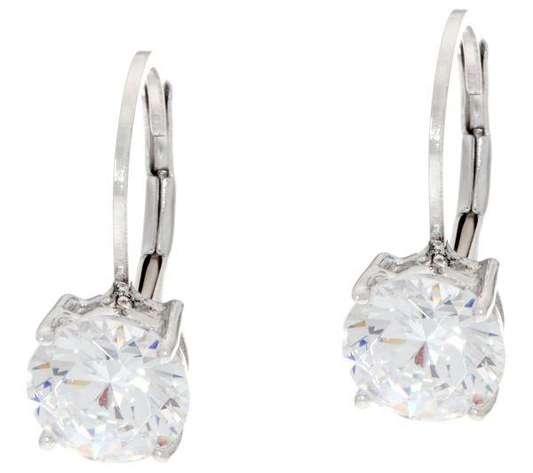 bdfc44644 QVC Sterling Silver Earrings. Diamonique 3.00 Cttw Leverback Earrings  Sterling