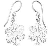 Sterling Silver Snowflake Earrings  QVC.com