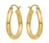 14K Gold Classic Hoop Earrings  QVC.com