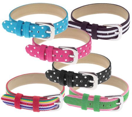 Ecclissi Set Of 6 Changeable Ribbon Straps