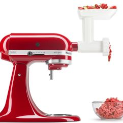 Kitchen Aid Meat Grinder Attachment Oak Cabinet Kitchenaid Fga Stand Mixer Food Page 1  Qvc