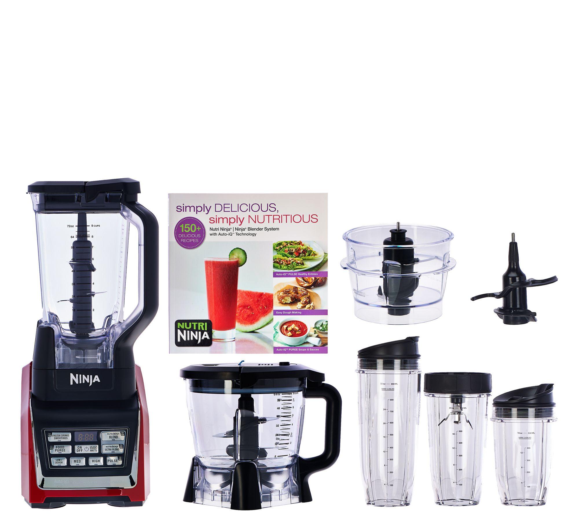 ninja mega kitchen 1500 fluorescent lighting nutri 72oz 1500w system w auto iq prep bowl page 1 qvc com