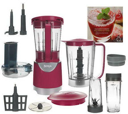 ninja kitchen system pulse stainless steel aid mixer 48oz blender w/ slicer&shredder ...