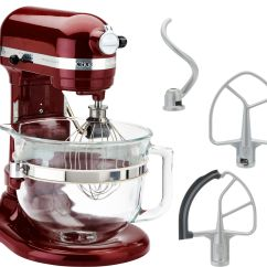 Kitchen Aid Glass Bowl Tall Tables Kitchenaid 6 Qt 575 Watt Lift Stand Mixer W
