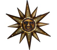 Metal Marquee Sun Wall Art with Solar LED Lights - Page 1 ...