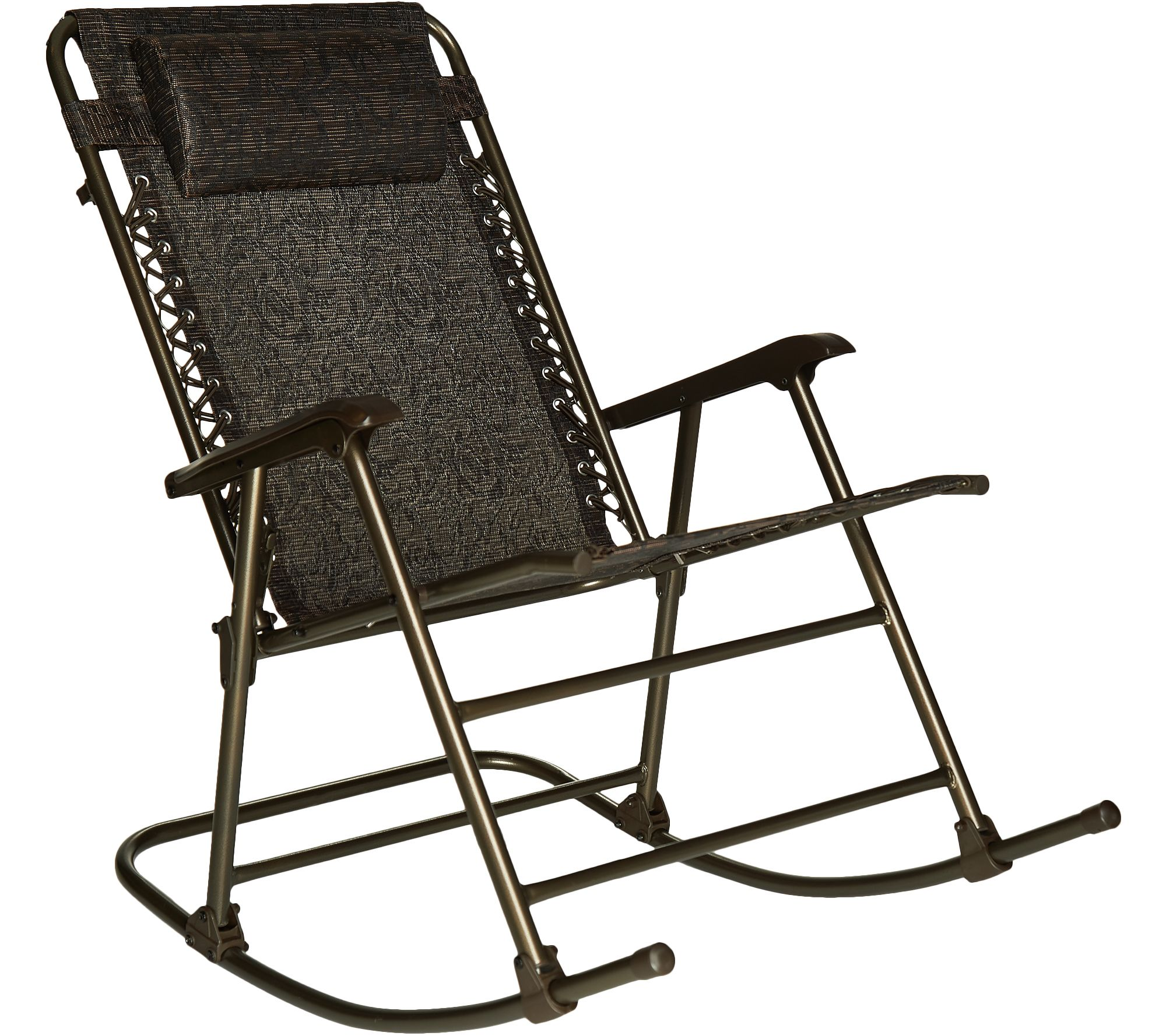 foldable rocking chair covers for incontinence bliss hammocks deluxe with headrest page 1 qvc com