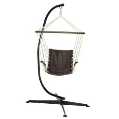 Swing Hammock Chair With Stand West Elm Leather Review As Is Bliss Hammocks Swinging Qvc Com