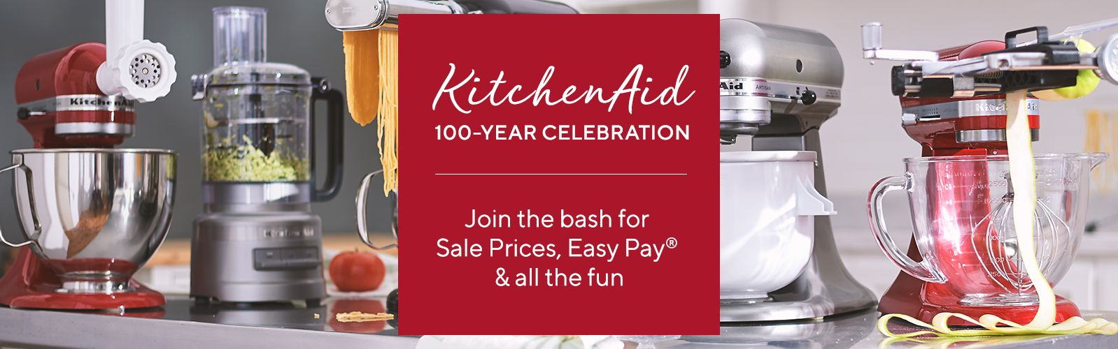 qvc.com shopping kitchen hot water for sink cookware baking supplies more food qvc com kitchenaid 100 year celebration join the bash sale prices