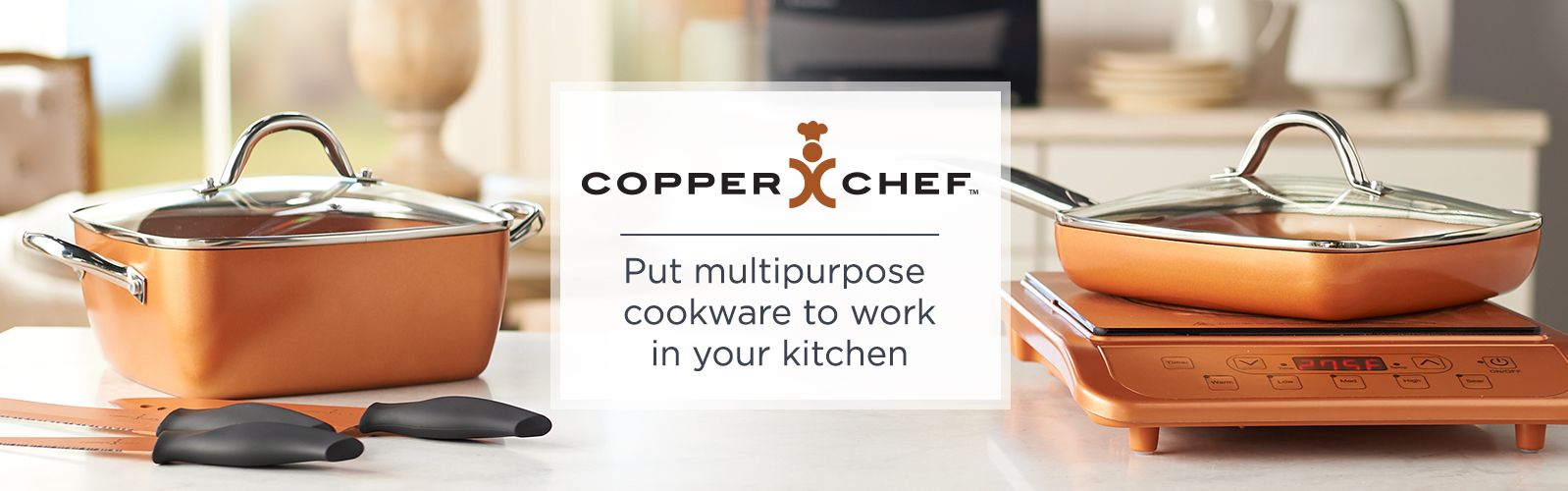 qvc.com shopping kitchen fingerhut copper chef cookware nonstick pans more qvc com put multi purpose to work in your