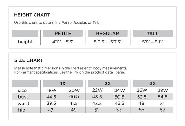 Height  size chart also plus fashion guide outfit ideas sizing qvc rh