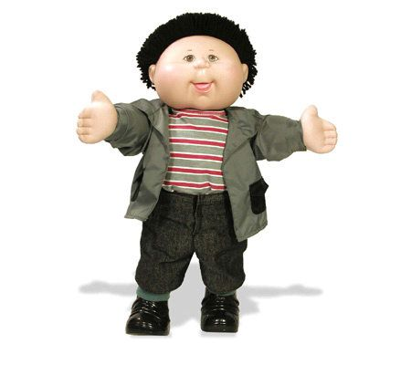 Cabbage Patch Kids Black Haired Boy In Shirt And Jacket