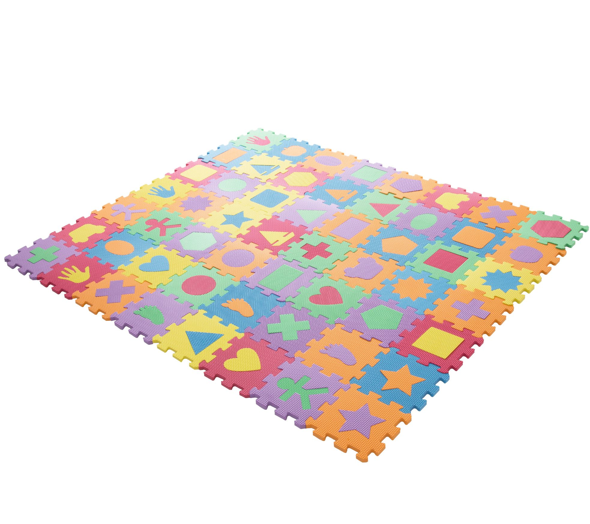 Hey Play Foam Floor Shapes Puzzle Learning Mat  QVCcom
