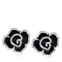 Frank Usher Crystal Rose Clip On Earrings - QVC UK