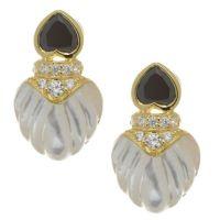 Diamonique by Tova 3.4ct tw Heart Clip on Earrings ...