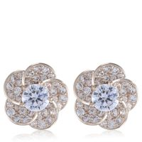 Diamonique 3.1ct tw Stud Earrings Rose Gold Plated ...