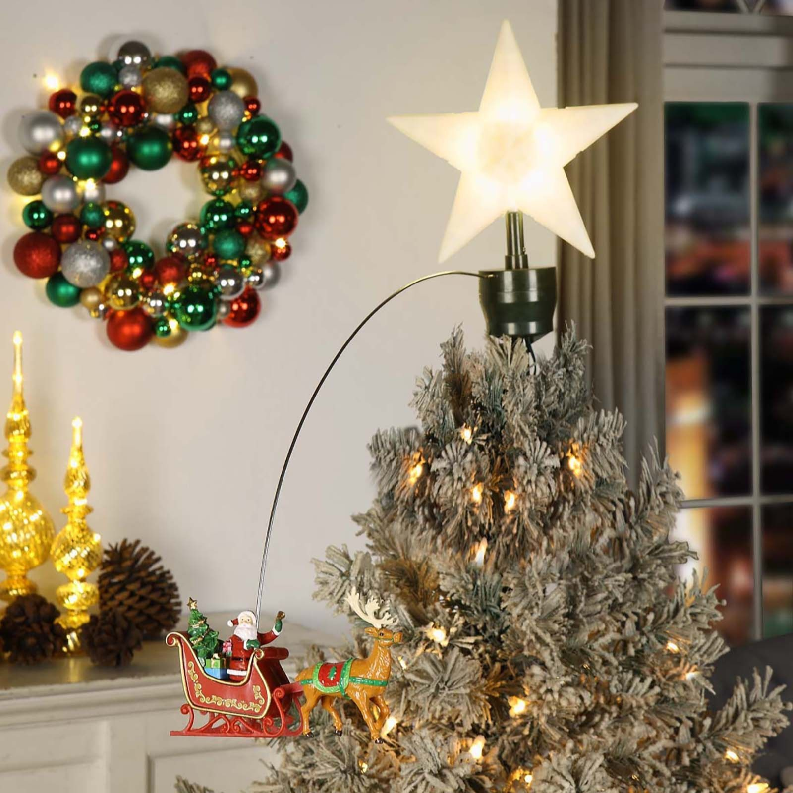 Mr Christmas Animated Tree Topper QVC UK