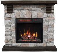 Duraflame Infrared Quartz Stone Mantel Heater with Flame ...
