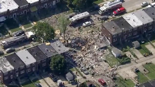 Une explosion détruit plusieurs maisons à Baltimore