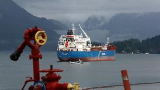 Un pétrolier près de la côte de la Colombie-Britannique