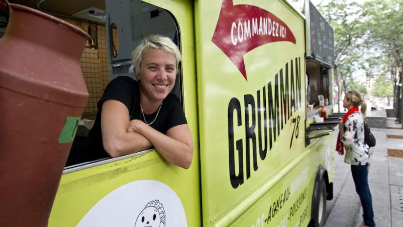 Gaëlle Cerf in her street food truck.