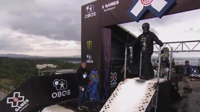 Maxence Parrot at the top of the X Games Europe in Oslo, Norway