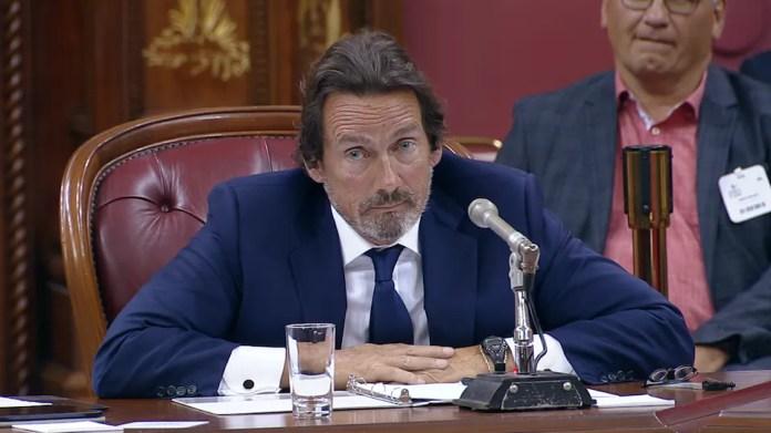 Pierre Karl Péladeau testifies before parliamentarians.