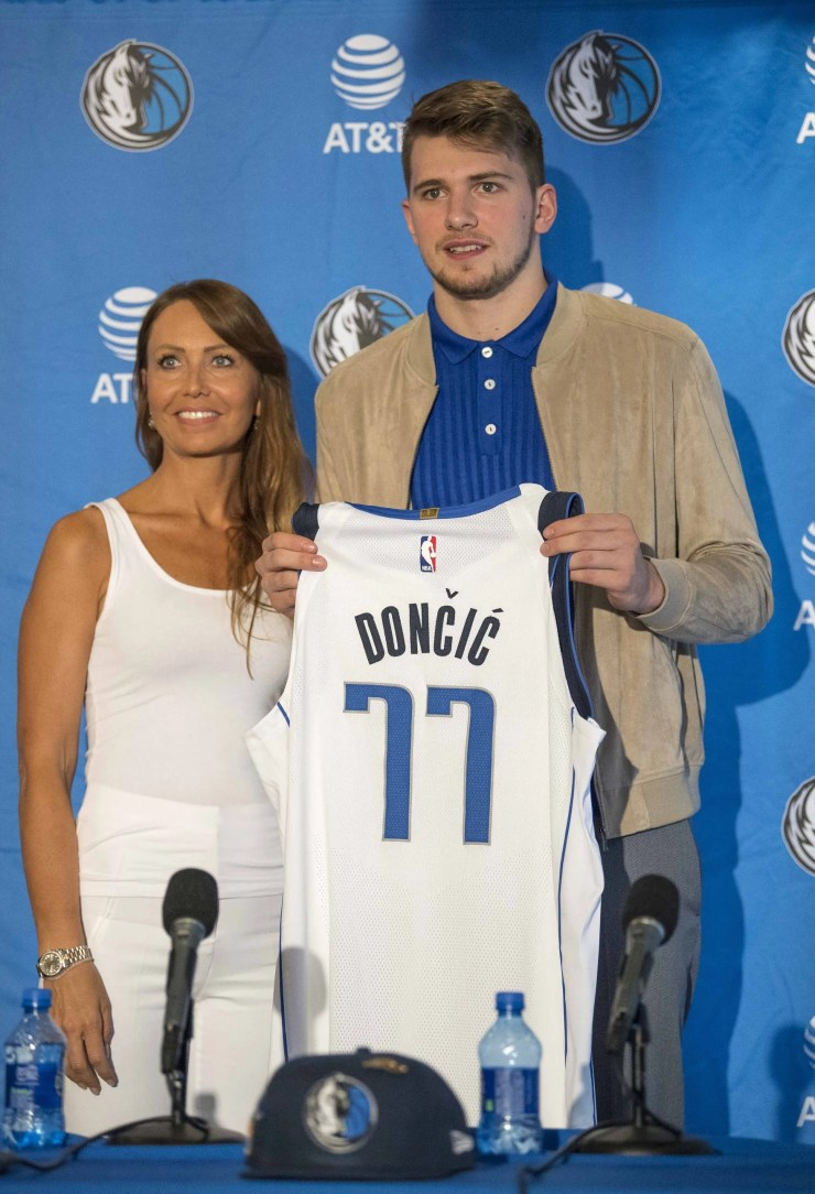 Luka Doncic Won Rookie Of The Year, But His Mom Mirjam Poterbin Stole The Show [PHOTOS]