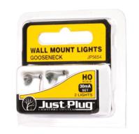 WJP5654 Gooseneck Wall Mount Lights (HO Scale) by Woodland ...