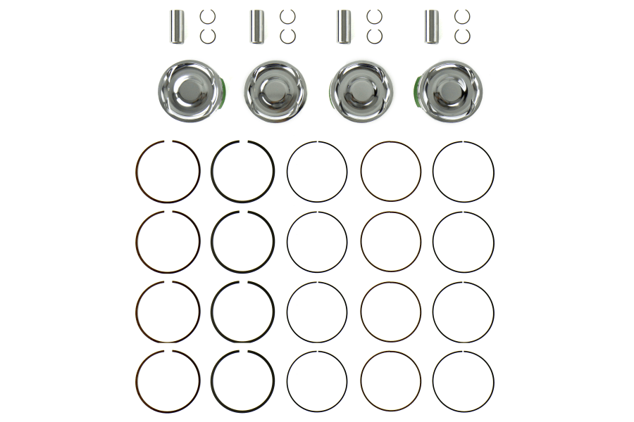 Cosworth Forged Pistons w Pins Clips and Rings 100mm Bore