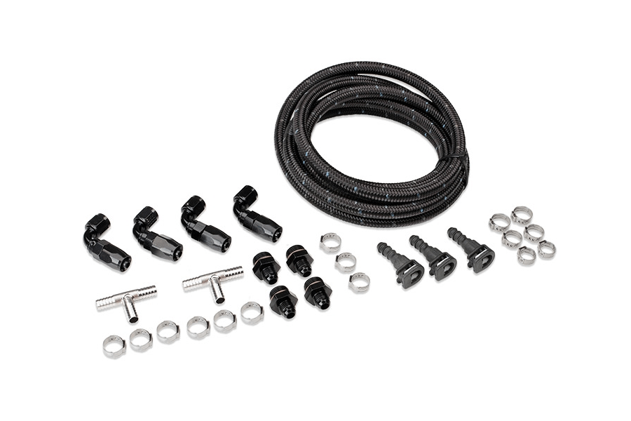 IAG Braided Fuel Line Fitting Kit For IAG Top Feed Fuel
