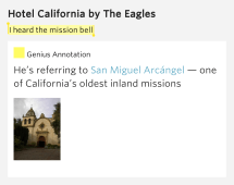 Heard Mission Bell Hotel California Eagles