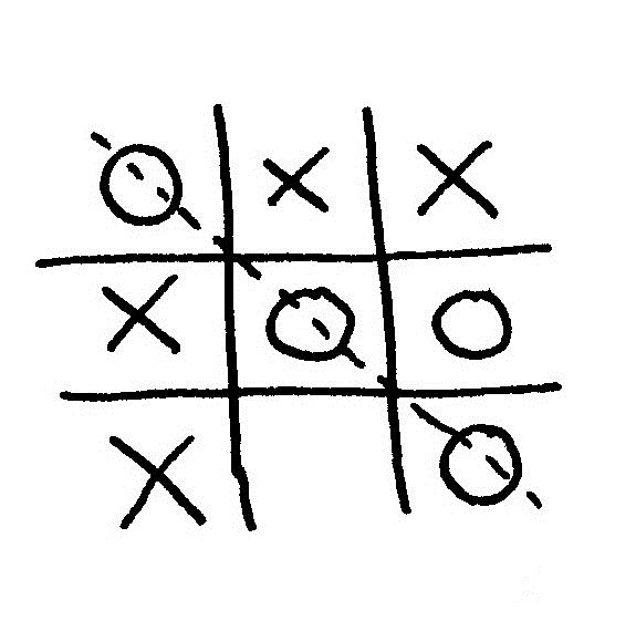 Got these hoes in a line like naughts and crosses