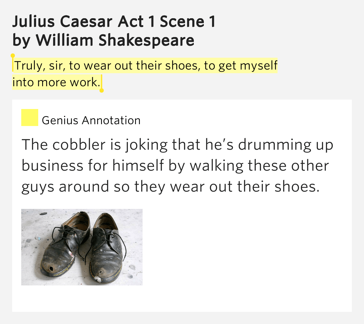 Truly Sir To Wear Out Their Shoes To Get Myself Into