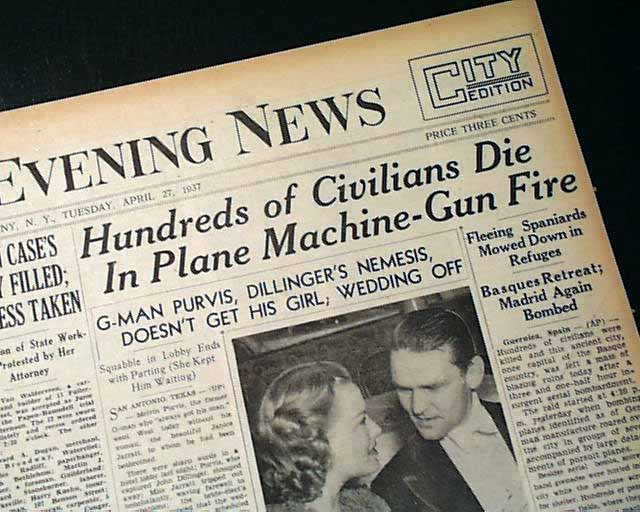 Image result for bombing of guernica headlines