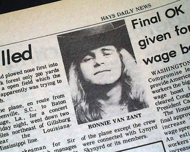 Ronnie Van Zant Autopsy Report