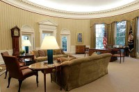 2nd Oval Office Readied in White House Rehab Project ...