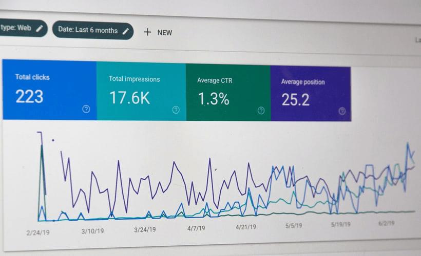 a screenshot of a digital analytics dashboard.