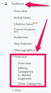 Google analytic audience segments