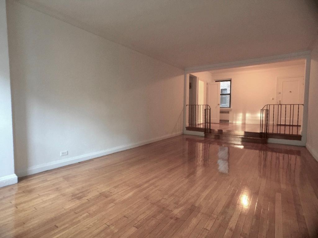 laminate flooring sunken living room round sofa furniture 511 west 235th street 4b new york ny 10463 apartments out