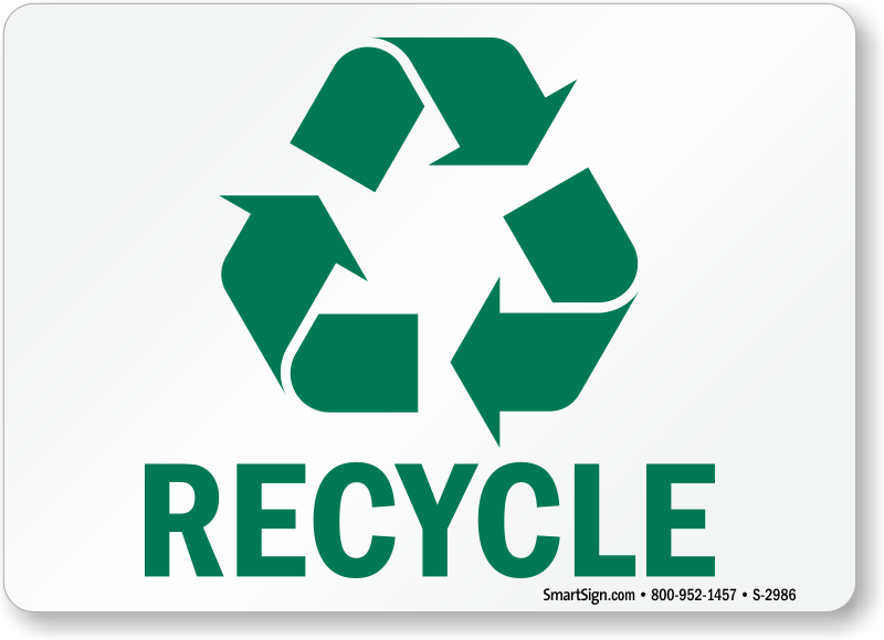 free recycling labels printabele