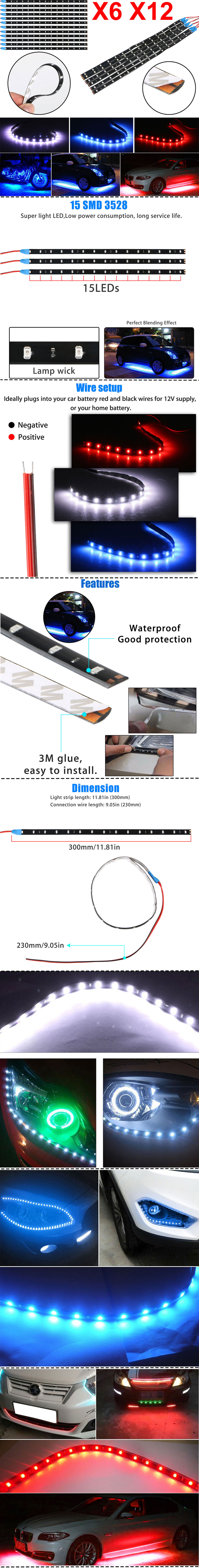 medium resolution of high quality led strip lights for home or automotive use comes in short lengths for ideal customization without the need to cut or sever