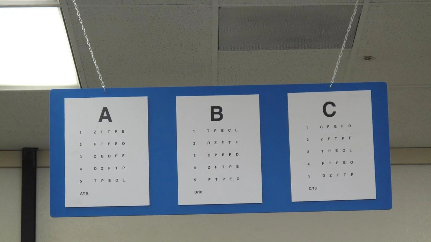 What is  dmv eye chart also reference rh