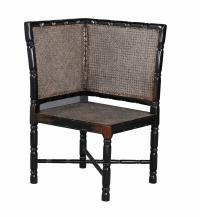 British Colonial Right Corner Chair Cane Seat & Back ...