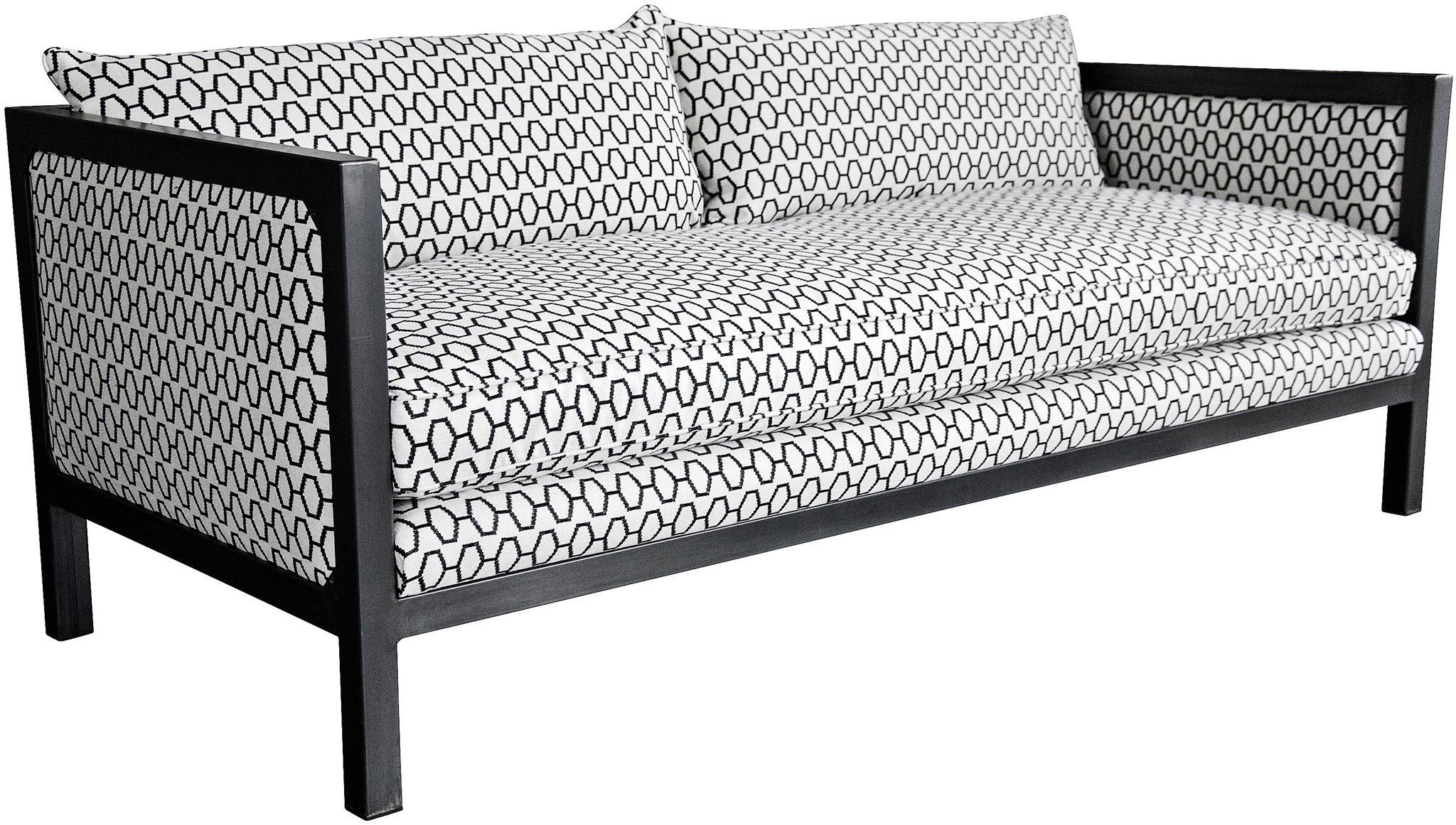 steel frame sofa modern craftsman table metal with claremont office